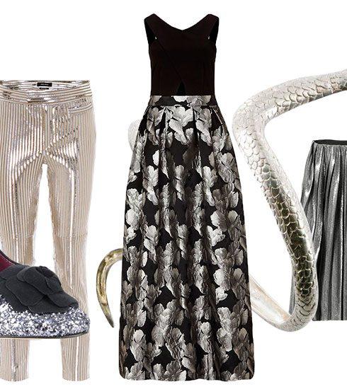 Trend: zilveren outfits om te stralen onder de maretak