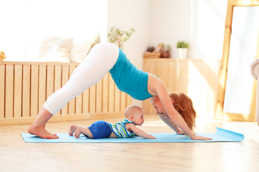 sporten met baby
