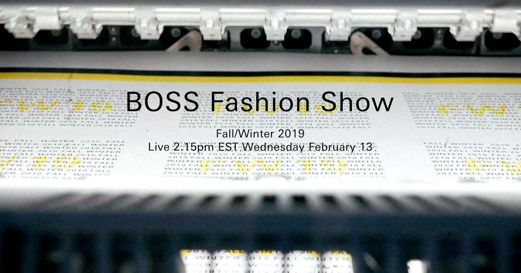 Zien: de livestream van de Boss FW19 modeshow