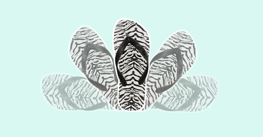 Crush of the day: de flip-flop van Saint Laurent x Havaianas