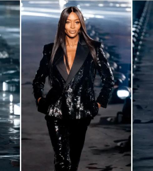 Paris Fashion Week: Naomi Campbell, véél regen en alles wat we zagen op de Saint Laurent SS20 show