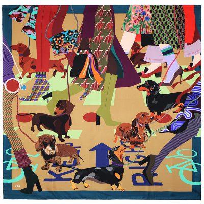 Crush of the day: de teckel sjaaltjes van Marylène Madou 150*150