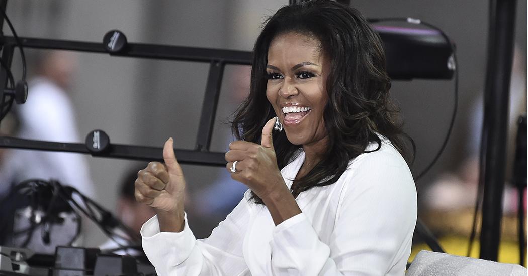 Michelle Obama's deelt haar workout playlist op Spotify