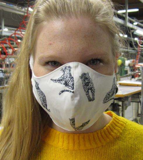 Xandres atelier doet mee, mondmaskers a volonté