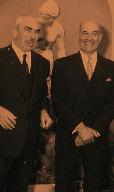 Georges Wurz en Dr. Eugene Frezzatti