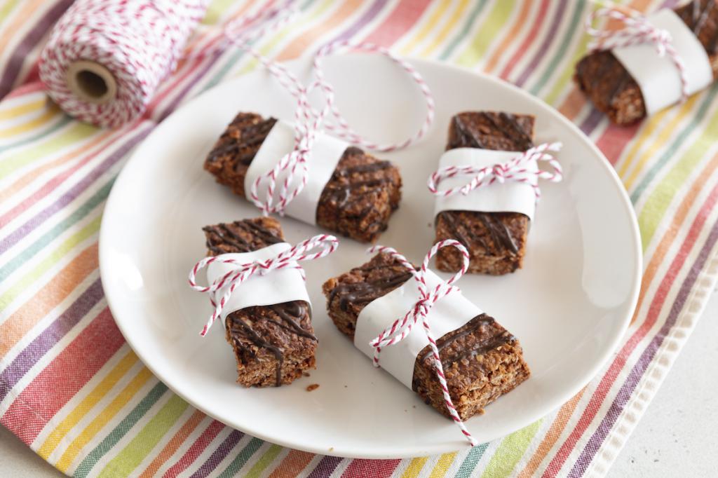 Chocolade-kokosnoot mueslibars