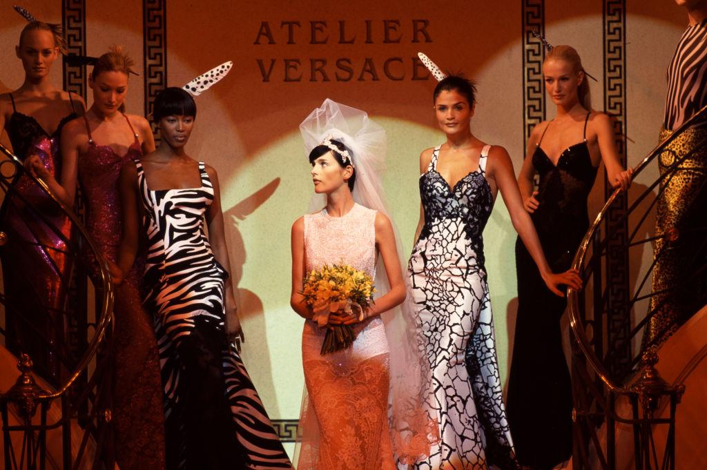 Stella Tennant voor Versace