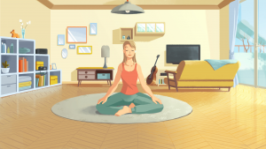 meditatie cartoon