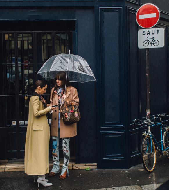 Streetstyle inspiratie: stijlvol door de regen