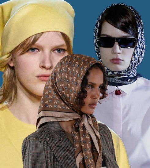 Zo draag je de bandana deze lente, zoals gespot bij Max Mara en Dior