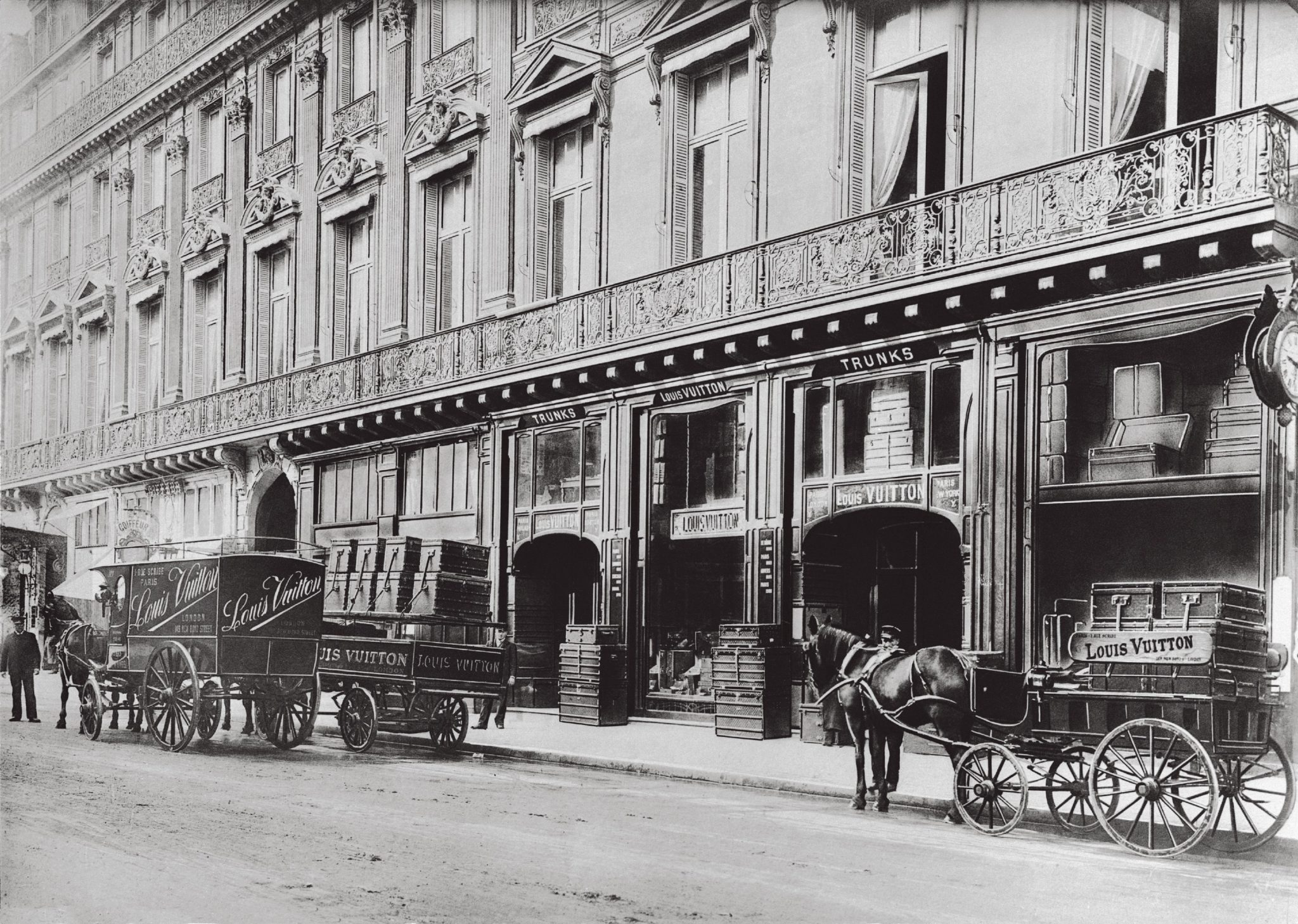 De eerste winkel van Louis Vuitton in Parijs.