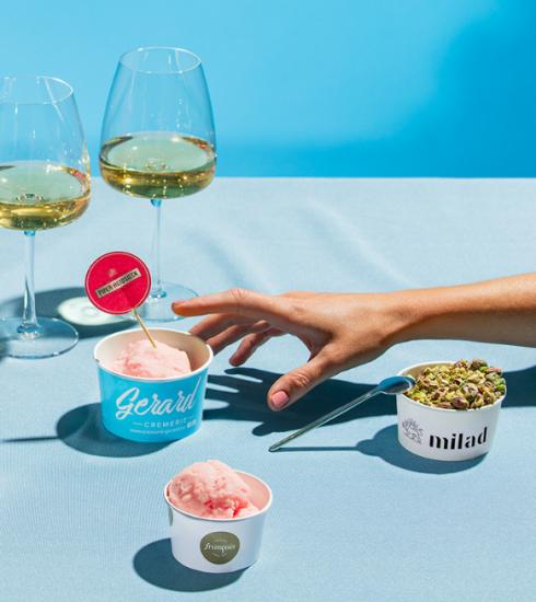 Hier eet je deze zomer champagne-ijs in België